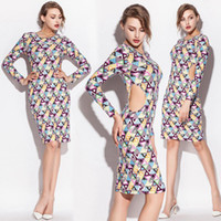 Wholesale Women s dresses Sexy Cotton plus size Stretch Skirt long sleeved T shirt printing code box spring Casual Dress