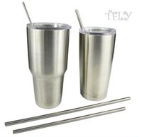 Wholesale Yeti cups Accessories Cleaning Sip Steel Drinking Straws Yeti Rambler Tumbler Straw free brush