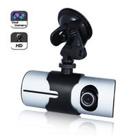 Wholesale 140degree inch Vehicle P Car DVR Camera Video Recorder Dash Cam G Sensor GPS Dual Lens Night Vision Microphone