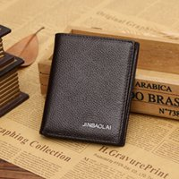 Wholesale 2016 Japan and South Korea style black and brown short square section of high quality multi functional wallet