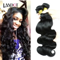 Wholesale Peruvian Malaysian Indian Cambodian Brazilian Body Wave Hair Extensions Dyeable Natural Black Color A Human Hair Weave Bundles Double Wefts