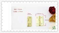Wholesale 100pcs gold round mm mm small hinge box packaging tin flat iron thickness mm hardware accessories