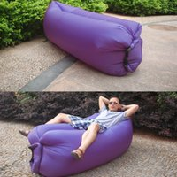 Wholesale FAST POST Inflatable Air Bag Beach Sleeping Bed Air Sofa For Camping Hiking s Outdoor Sleeping Bags colors