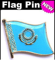 Wholesale Kazakhstan Flag Badge Metal Pin Flag badge country flag badges military flag badges flag badge pin