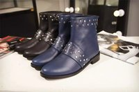 ba big - Thanksgivings Day Big Sale Brand Quality BA Logo Stylish Womens Pairs Luxury Design Nail Short Boots