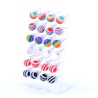 bead earrings patterns - New fashion fine jewelry elegant simulated pearl earrings for women cute circle pattern beads ball earrings