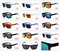 Wholesale 2016 Summer Fashion Men Sunglasses Holbrook Coating Goggles Sports Eyewear Men Women Sun Glasses Brand Oculos De Sol UV400 Sunglasses