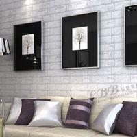 Wholesale 3D self adhesive wallpaper stone brick design background wall vinyl wallpaper modern for living room wallcovering