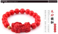 beaded wild animals - Natural cinnabar red bracelet for men and women the mythical wild animal lovers lucky fate preventable and fashion hand n035