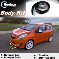 Wholesale For Chevrolet Spark Bumper Lip Lips Front Skirt Deflector Spoiler For Car Tuning The Stig Recommend Body Kit Strip