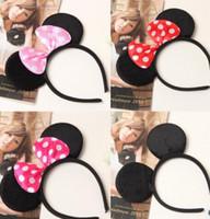 barrette supplies - fashion Children Mickey and Minnie mouse ears headband girl boy Hair Sticks kids birthday party supplies decorations
