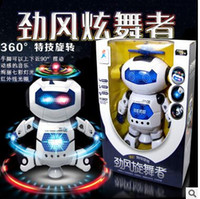 Wholesale Hot Glowing Toys Rotating Universal Gift Was Walk Dazzle Dancers Dancing Electric Robot