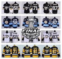 Wholesale 2016 Mens Stanley Cup Playoffs Hockey Jerseys Pittsburgh Penguins Sidney Crosby Phil Kessel Evgeni Malkin Kris Letang Jersey