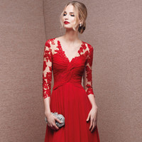 Wholesale 2016 New Red Long Eveing Dresses Bridesmaid Dresses Wedding Dress Party Dress For Girls Women