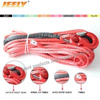 Wholesale MM M UHMWPE Braid Synthetic Winch Line with HOOK amp Fairlead for WD ATV UTV SUV