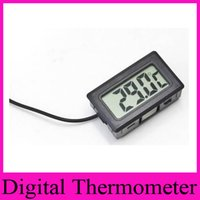 Wholesale FY black white Professional LCD Digital Thermometer Probe Fridge Freezer Thermometer Thermograph for Refrigerator Degree