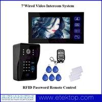 Wholesale Home Door Access Control Intercom System inch LCD CMOS IR Night Vision Outdoor Camera Remote Control Video Doorphone Doorbell