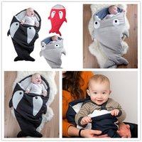 Wholesale Shark Bag Newborns Sleeping Bag Winter Strollers Bed Swaddle Blanket Wrap Cute Bedding Baby Sleeping Bag Baby Shark Bed Baby Blankets