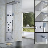 abs panels - And Retail Promotion Thermostatic Brushed Nickel Shower Panel With Massage Jets ABS Hand Shower