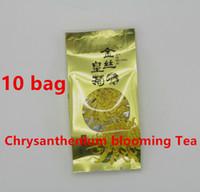 al por mayor floración bolsas de té-10 Bolsa 0.2g / bolsita WUYuan Herbario Crisantemo Blooming Té orgánico deshidratado Cuidado de la Salud Té Flor