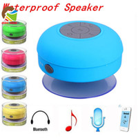 bathroom stereo - Portable waterproof suction IPX4 speakers wireless bluetooth stereo music players handfree receive call bathroom shower car use mini speaker