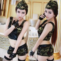 camouflage lingerie - M6 Camouflage police uniform temptation lingerie game performance nightclub OL business attire sexy cute stewardess uniforms