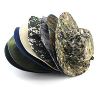 Wholesale New Outdoor Sports Unisex Camo Military Bucket Hat Hunting Fishing Sun Cap Boonie Jungle Hat