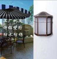 Wholesale Aluminum acrylic waterproof led light outdoor European antique night light garden decoration light wall lamp E27 Outdoor lighting
