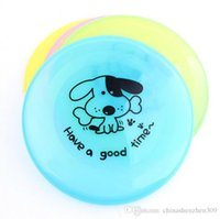 Wholesale 20cm plastic Dog Frisbee Flying Discs Sports Frisbee UFO Shape Tomtop Pet Toys Gift