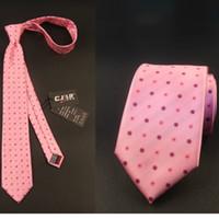 21colors 100pcs / lot de la alta calidad del diseñador de Fedex de la alta calidad del jacquard foral rayó la corbata del negocio del lazo del cuello corbatas la aguja del rosa 1200 del diamante de los 7cm