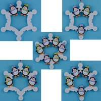 Wholesale Maxora Snowflake Penguins Family of Christmas Ornaments As Craft Souvenirs for Personalized Gifts