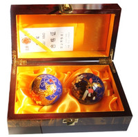 baoding balls - 50mm Multifunctional body building ball Shouxing Brand Originating in Baoding China Cloisonne coloured longfeng design and retail