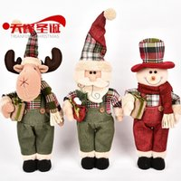 Wholesale 38cm Christmas Ornament Snowman The Elderly Lu Station Doll Originality Gift CX15304