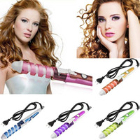 Wholesale New Electric Hair Curler Magic Hair Styling Tool Ceramic Roller Pro Spiral Curling Iron Wand Curl Electric Hair Curler