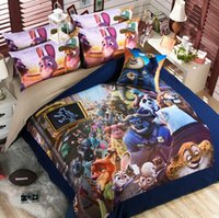 american cotton sheets - New Cartoon Movie Zootopia sheet style pieces bedding set children cartoon bedding supplies