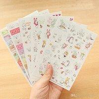 Wholesale 30pcs opp bag cute cartoon rabbit DIY album decor scrapbooking WALL stickers kawaii mobile phone sticker on paper