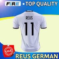 t cups - 2016 Top Quality European Cup MEUER REUS SCHWEINSTEIGER OZIL MULLER KROOS GOTEZ soccer jerseys Shirts Customized T shirt Soccer Wear Tops