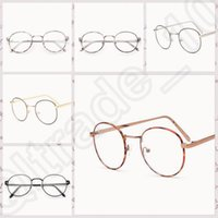 Wholesale 50PCS LJJM123 Vintage Clear Lens Eyeglasses Flower Frame Unisex Retro Round Glasses Frame Fashion Metal Spectacle Eyewear Frame