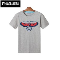 atlanta hawk - New Cheap Atlanta BASKETBALL Hawks Summer Fall personality male short sleeve T shirt colors cotton