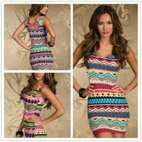 aztec bodycon dress - New Hot Fashion Vintage Aztec Print Women s Mini Dress Sexy Summer Tank Club Dresses Popular Ladies Casual Bodycon Dress Plus Siz