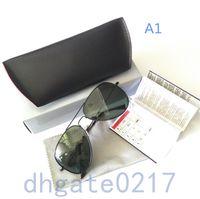 aluminum hinged - Brand Designer Sunglasse fashion Metal Hinge Sunglasses Men Glasses Women Sun glasses UV400 Unisex With original Box