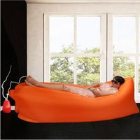 Wholesale Multi function Portable Folding Inflatable Air Bed Sofa Couch Outdoor Beach Camping Sleeping Lazy Bag