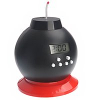 alarm clock bank - Explode alarm Clock Fancy Digital Alarm Clock Electronic Piggy Bank Creative Round Alarm Clock LED Alarm Clock
