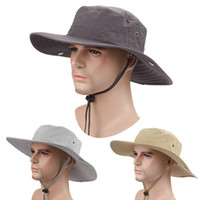 Wholesale 2016 Fisherman caps Unisex Summer Fashion Outdoor Fisherman Hat Basin cap Bucket Hat Foldable Sun Beach Hat Top hat