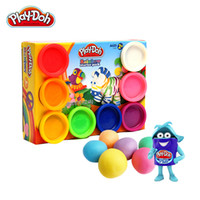 Wholesale Hasbro Mr Le eight rainbow color more safe non toxic rubber color mud toys for children