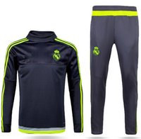 Wholesale 2016 high quality New PSG Maillot de foot tracksuits survetement football shirts long sleeves tight pants sportswear PSG training suit socc