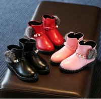 baby s boots - Christmas children s casual warm boots winter high plush zipper slip proof bottom baby boots student running boots E522