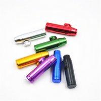 aluminum dispenser - Aluminum metal Bullet Rocket Shaped Snuff Snorter Sniff Dispenser Nasal Smoking Pipe Sniffer glass bongs Endurable Tobacco Pipe