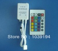 Wholesale 24 key RGB Controler for waterproof led strip light lowest price remote IR RGB Controlers
