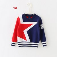 Wholesale European American Style Autumn and winter in the new round necked children pullover sweaters Children double thick jacquard sweater JF
